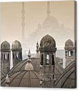 The Suleymaniye Mosque And New Mosque In The Backround Canvas Print