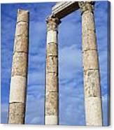 The Temple Of Hercules In The Citadel Amman Jordan Canvas Print