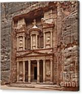 the treasury Nabataean ancient town Petra Canvas Print