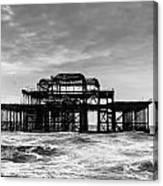 The West Pier In Brighton Canvas Print