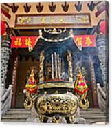 Thien Hau Temple A Taoist Temple In Chinatown Of Los Angeles. Canvas Print