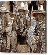 Three  Revolutionary Soldiers With Rifles Unknown Mexico Location Or Date-2014 Canvas Print