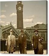 Three Stalwart Gentlemen Canvas Print