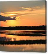 Tidal Marsh Wilmington Nc Canvas Print