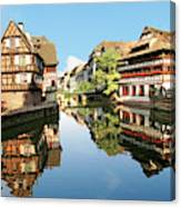 Timbered Buildings, La Petite France Canvas Print