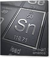 Tin Chemical Element Canvas Print