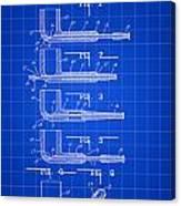 Tobacco Pipe Patent 1944 - Blue Canvas Print