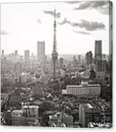 Tokyo Tower Square Canvas Print