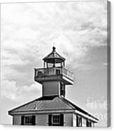 Top Of The New Canal Lighthouse - Bw Canvas Print
