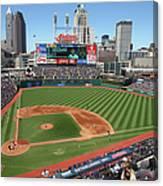 Toronto Blue Jays V. Cleveland Indians Canvas Print