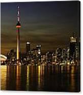 Toronto Evening Sky Line Panorama Canvas Print