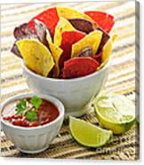 Tortilla Chips And Salsa Canvas Print