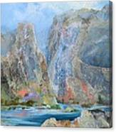 Towering Stone Canvas Print