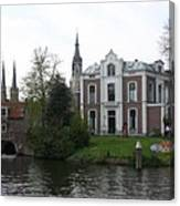 Town Canal - Delft Canvas Print