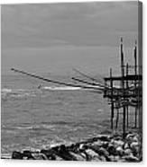 Trabocco On The Coast Of Italy  Canvas Print