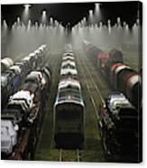 Trainsets Canvas Print