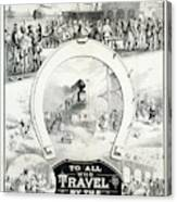 Travel Poster, C1882 Canvas Print