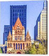 Trinity Church Boston Usa Canvas Print