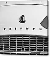 Triumph Tr3 Grille Emblem Canvas Print
