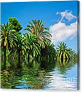 Tropical Exotic Jungle And Water Canvas Print