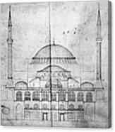 Turkey: Hagia Sophia, 1830s Canvas Print