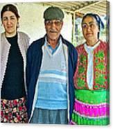 Turkish Family In Demircidere Koyu In Kozak-turkey  Canvas Print