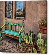 Turquoise Bench Canvas Print
