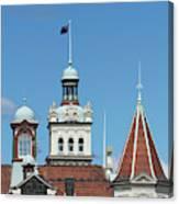 Turrets, Spires & Clock Tower, Historic Canvas Print