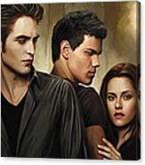 Twilight  Kristen Stewart And Robert Pattinson Artwork 2 Canvas Print
