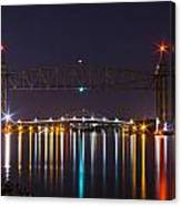 Two Bridges At Night Canvas Print