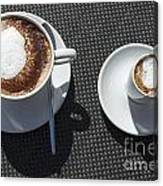 Two Cups Of Coffee Canvas Print