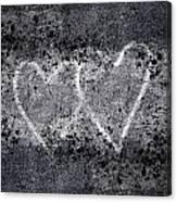 Two Hearts Graffiti Love Canvas Print