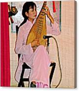 Two-stringed Lute Player At Wedding Ceremony Show In Binh Quoi Village-vietnam  Canvas Print
