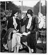 Two Women Talking Canvas Print