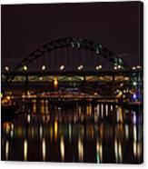 Tyne Bridge At Night Canvas Print