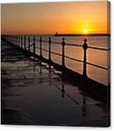 Tynemouth Pier Sunrise Canvas Print
