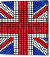 Union Jack Mosaic Canvas Print