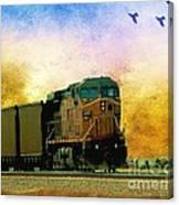 Union Pacific Coal Train Canvas Print