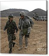 U.s. Army Commander, Right Canvas Print