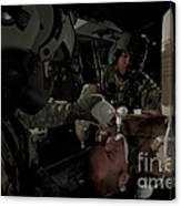 U.s. Army Medics Simulating Ventilation Canvas Print