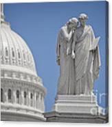 Us Capitol Peace Monument Canvas Print