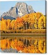 Usa, Grand Teton National Park Wyoming Canvas Print