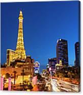 Usa, Nevada, Las Vegas, Paris Las Vegas Canvas Print