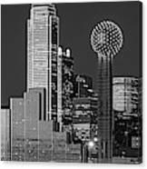 Usa, Texas, Dallas, Panoramic View Canvas Print