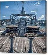 Uss Missouri Anchor Chain Canvas Print