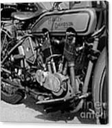V-twin Engine Canvas Print