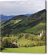 Val Di Funes Dolomites Italy Canvas Print