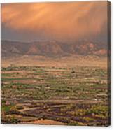 Valley Sunset Canvas Print