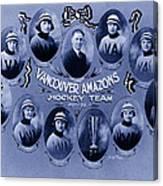 Vancouver Amazons Women's Hockey Team 1921 Canvas Print