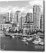 Vancouver Bc Downtown Skyline At False Creek Canada Canvas Print